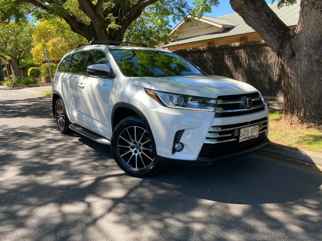 Pre-Owned Toyota Kluger GSU50R Grande 2WD Hawthorn, 2017 Toyota Kluger GSU50R Grande 2WD White 8 Speed Sports Automatic Wagon