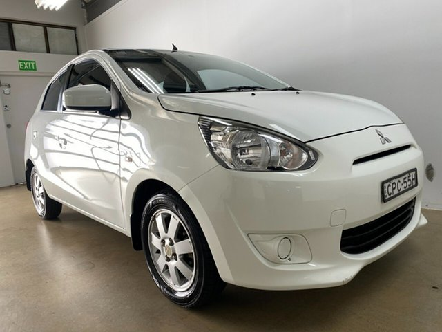 Used Mitsubishi Mirage LA LS Phillip, 2013 Mitsubishi Mirage LA LS White 5 Speed Manual Hatchback
