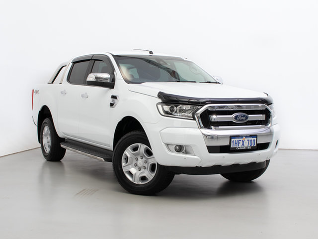 Used Ford Ranger PX MkII MY17 XLT 3.2 (4x4), 2017 Ford Ranger PX MkII MY17 XLT 3.2 (4x4) White 6 Speed Manual Double Cab Pick Up