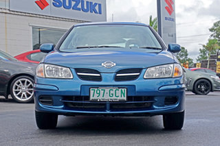 2001 Nissan Pulsar N16 Q Blue 4 Speed Automatic Hatchback.