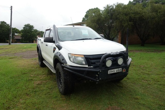 Used Ford Ranger PX XL East Maitland, 2013 Ford Ranger PX XL White 6 Speed Sports Automatic Utility