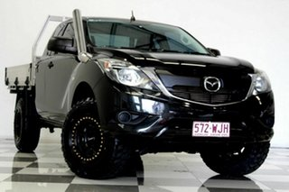 2016 Mazda BT-50 MY16 XT (4x4) Black 6 Speed Manual Freestyle Cab Chassis.