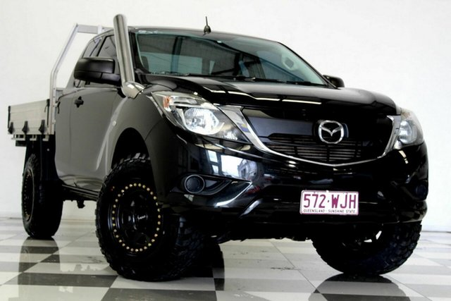 Used Mazda BT-50 MY16 XT (4x4) Burleigh Heads, 2016 Mazda BT-50 MY16 XT (4x4) Black 6 Speed Manual Freestyle Cab Chassis