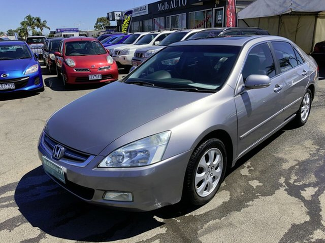 Used Honda Accord 7th Gen V6 Luxury Cheltenham, 2004 Honda Accord 7th Gen V6 Luxury Grey 5 Speed Automatic Sedan