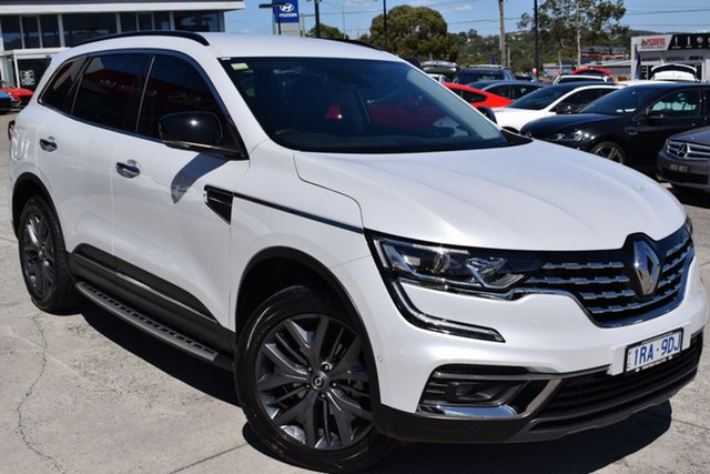 Used Renault Koleos HZG MY20 Black Edition X-tronic Ferntree Gully, 2020 Renault Koleos HZG MY20 Black Edition X-tronic White 1 Speed Constant Variable Wagon