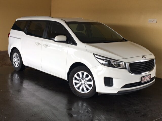 Used Kia Carnival YP MY16 Update S Toowoomba, 2015 Kia Carnival YP MY16 Update S White 6 Speed Automatic Wagon