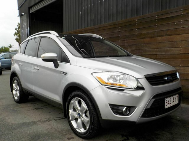 Used Ford Kuga TE Titanium AWD Labrador, 2012 Ford Kuga TE Titanium AWD Silver 5 Speed Sports Automatic Wagon
