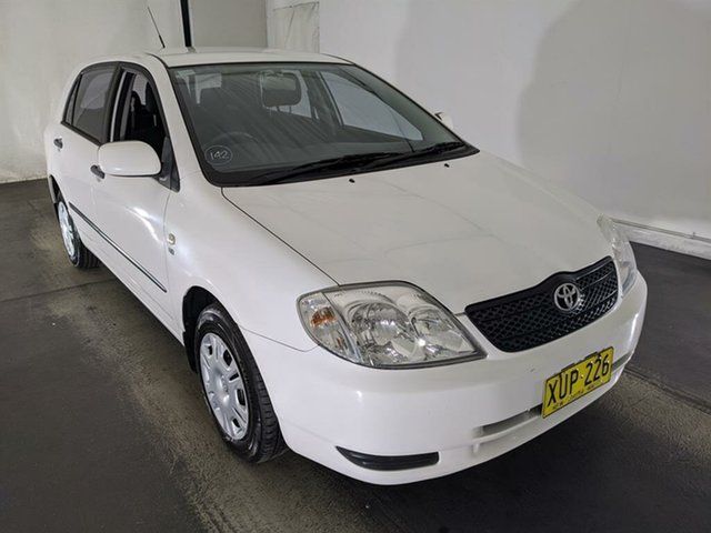 Used Toyota Corolla ZZE122R Ascent Maryville, 2001 Toyota Corolla ZZE122R Ascent White 5 Speed Manual Hatchback