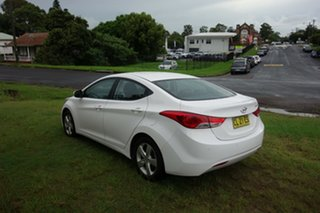 2012 Hyundai Elantra MD Elite White 6 Speed Sports Automatic Sedan.