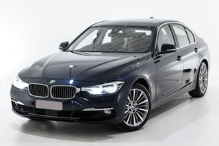 2015 BMW 3 Series F30 LCI 320i Luxury Line Blue 8 Speed Sports Automatic Sedan.