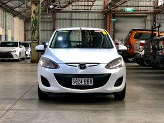 2013 Mazda 2 DE10Y2 MY13 Neo White 5 Speed Manual Hatchback.