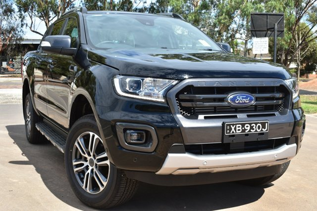Demo Ford Ranger PX MkIII 2020.75MY Wildtrak St Marys, 2020 Ford Ranger PX MkIII 2020.75MY Wildtrak Shadow Black 10 Speed Sports Automatic