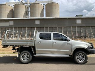 2013 Toyota Hilux KUN26R MY14 SR5 (4x4) Sterling Silver 5 Speed Manual Dual Cab Pick-up.