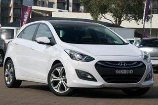 2014 Hyundai i30 GD MY14 Premium White 6 Speed Automatic Hatchback.