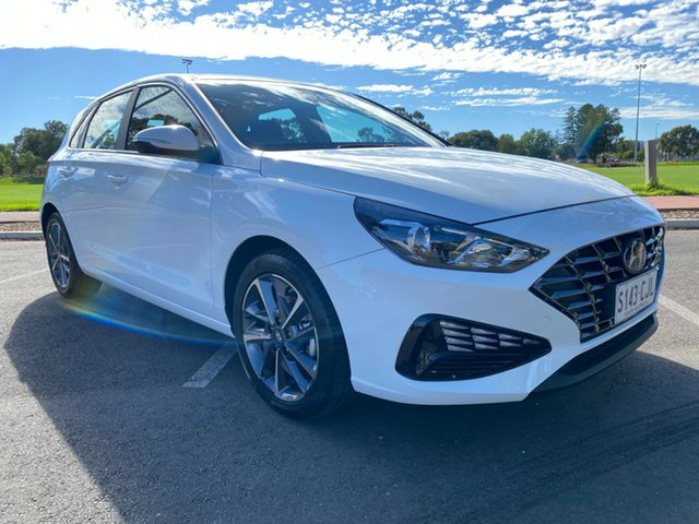 Demo Hyundai i30 PD.V4 MY21 Active Nailsworth, 2020 Hyundai i30 PD.V4 MY21 Active Polar White 6 Speed Sports Automatic Hatchback
