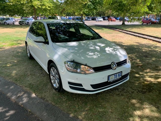 Used Volkswagen Golf VII MY15 90TSI Launceston, 2015 Volkswagen Golf VII MY15 90TSI White 6 Speed Manual Hatchback