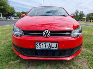 2011 Volkswagen Polo 6R MY12 77TSI DSG Comfortline Red 7 Speed Sports Automatic Dual Clutch
