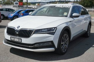 2020 Skoda Superb NP MY21 200TSI DSG Scout White 7 Speed Sports Automatic Dual Clutch Wagon