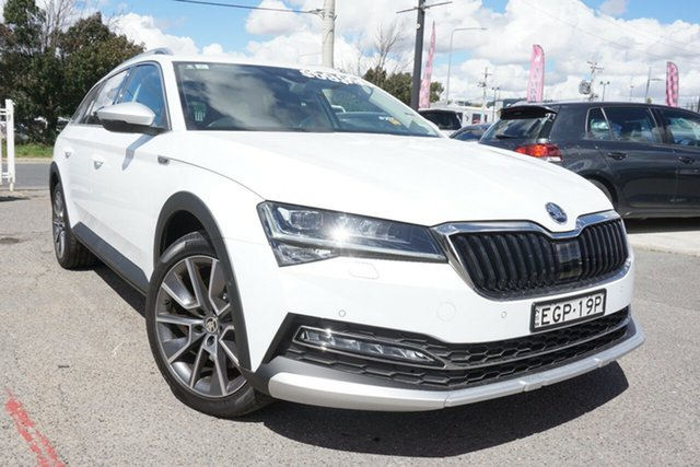 Used Skoda Superb NP MY21 200TSI DSG Scout Phillip, 2020 Skoda Superb NP MY21 200TSI DSG Scout White 7 Speed Sports Automatic Dual Clutch Wagon