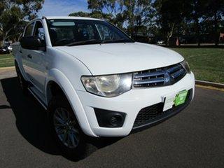 2013 Mitsubishi Triton MN MY12 GLX (4x4) White 5 Speed Manual 4x4 Double Cab Utility.
