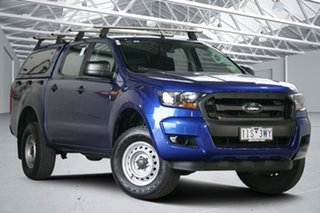 2016 Ford Ranger PX MkII XL 2.2 Hi-Rider (4x2) Blue 6 Speed Automatic Crew Cab Pickup
