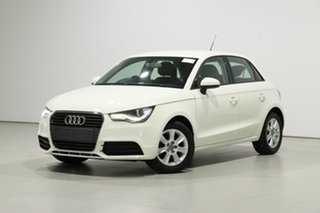 2012 Audi A1 8X MY12 Sportback 1.2 TFSI Attraction White 5 Speed Manual Hatchback.