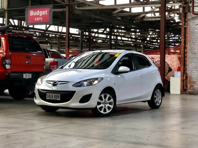 Used Mazda 2 DE10Y2 MY13 Neo Mile End South, 2013 Mazda 2 DE10Y2 MY13 Neo White 5 Speed Manual Hatchback