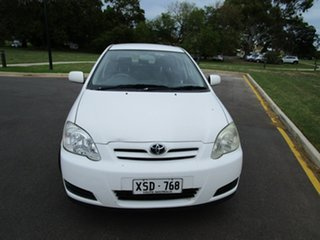 2006 Toyota Corolla ZZE122R MY06 Ascent Sport Seca White 4 Speed Automatic Hatchback.