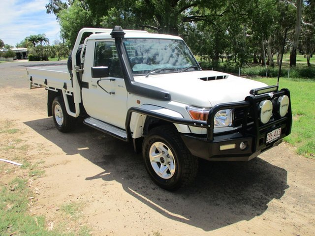 Pre-Owned Toyota Landcruiser LC70 VDJ79R MY17 GXL (4x4) Roma, 2017 Toyota Landcruiser LC70 VDJ79R MY17 GXL (4x4) French Vanilla 5 Speed Manual Cab Chassis