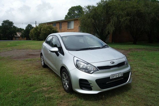 Used Kia Rio UB MY15 S East Maitland, 2015 Kia Rio UB MY15 S Silver 4 Speed Sports Automatic Hatchback