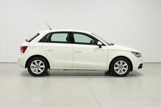 2012 Audi A1 8X MY12 Sportback 1.2 TFSI Attraction White 5 Speed Manual Hatchback