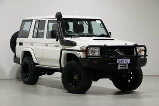 2012 Toyota Landcruiser VDJ76R 09 Upgrade Workmate (4x4) White 5 Speed Manual Wagon.