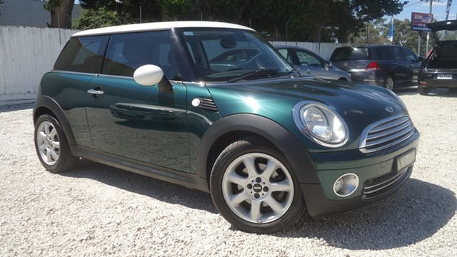 Used Mini Hatch R56 Cooper Chilli Seaford, 2007 Mini Hatch R56 Cooper Chilli Green 6 Speed Sports Automatic Hatchback