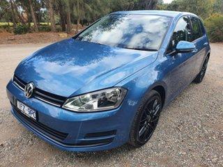 2015 Volkswagen Golf 7 92TSI Trendline Blue Sports Automatic Dual Clutch Hatchback.