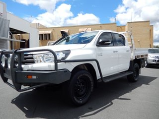 2016 Toyota Hilux GUN126R SR (4x4) Glacier White 6 Speed Automatic Dual Cab Chassis