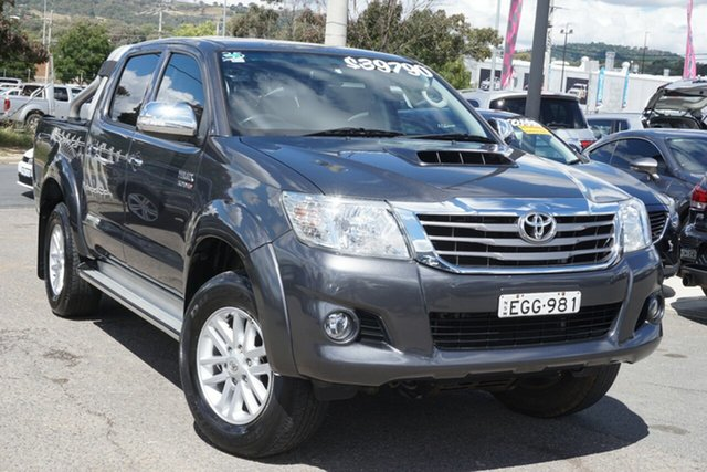 Used Toyota Hilux KUN26R MY14 SR5 Double Cab Phillip, 2014 Toyota Hilux KUN26R MY14 SR5 Double Cab Grey 5 Speed Automatic Utility