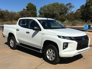 2020 Mitsubishi Triton MR MY21 GLX+ Double Cab White 6 Speed Sports Automatic Utility.