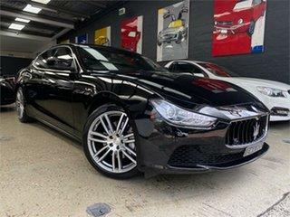 2014 Maserati Ghibli M157 Black Sports Automatic Sedan.