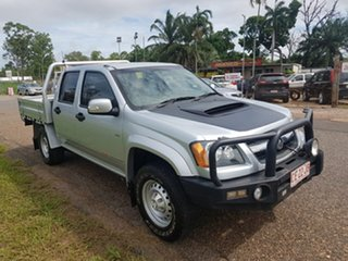 2010 Holden Colorado RC MY11 LX Crew Cab Silver 5 Speed Manual Cab Chassis.