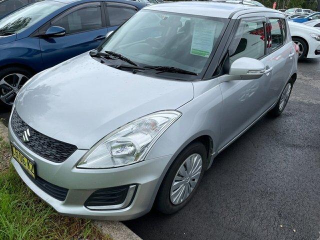 Used Suzuki Swift FZ MY14 GL Maitland, 2014 Suzuki Swift FZ MY14 GL Silver 4 Speed Automatic Hatchback