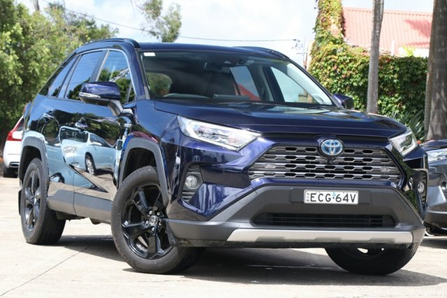 Pre-Owned Toyota RAV4 Axah54R Cruiser eFour Mosman, 2019 Toyota RAV4 Axah54R Cruiser eFour Saturn Blue 6 Speed Constant Variable Wagon