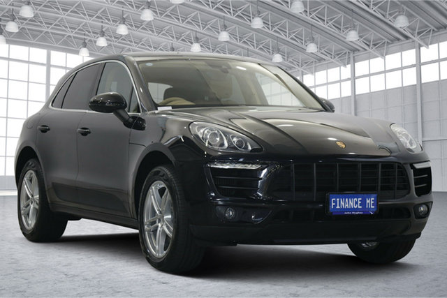 Used Porsche Macan 95B MY15 S PDK AWD Victoria Park, 2014 Porsche Macan 95B MY15 S PDK AWD Black 7 Speed Sports Automatic Dual Clutch Wagon