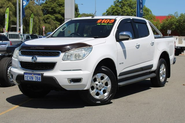 Used Holden Colorado RG MY14 LTZ Crew Cab 4x2 Midland, 2014 Holden Colorado RG MY14 LTZ Crew Cab 4x2 White 6 Speed Manual Utility
