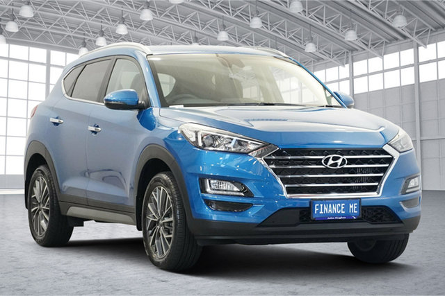 Used Hyundai Tucson TL3 MY21 Highlander AWD Victoria Park, 2020 Hyundai Tucson TL3 MY21 Highlander AWD Aqua Blue 8 Speed Sports Automatic Wagon