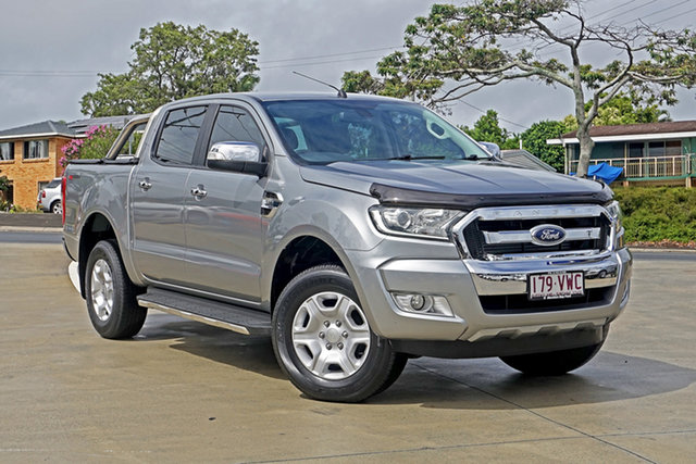 Used Ford Ranger PX MkII XLT Double Cab 4x2 Hi-Rider Capalaba, 2015 Ford Ranger PX MkII XLT Double Cab 4x2 Hi-Rider Aluminium 6 Speed Sports Automatic Utility