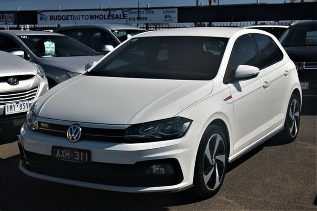 Used Volkswagen Polo AW MY19 GTI DSG Cheltenham, 2018 Volkswagen Polo AW MY19 GTI DSG White 6 Speed Sports Automatic Dual Clutch Hatchback