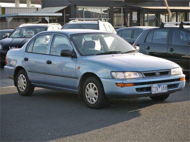 Used Toyota Corolla AE101R CSi Cheltenham, 1996 Toyota Corolla AE101R CSi Blue 4 Speed Automatic Sedan