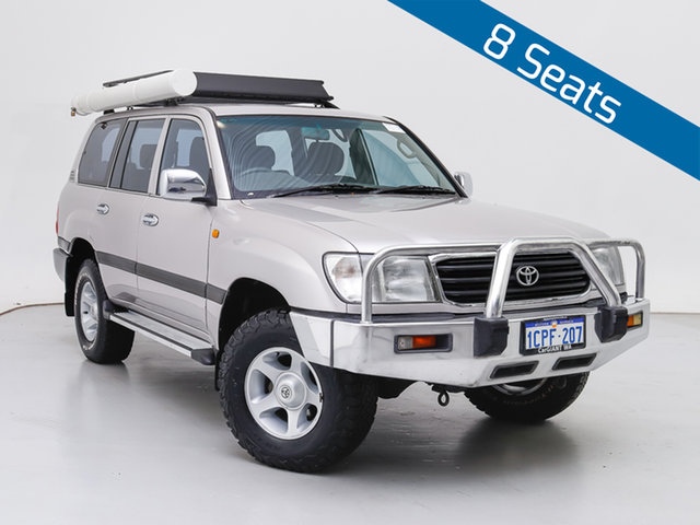 Used Toyota Landcruiser HZJ105R GXL (4x4), 1999 Toyota Landcruiser HZJ105R GXL (4x4) Silver, Chrome 5 Speed Manual 4x4 Wagon