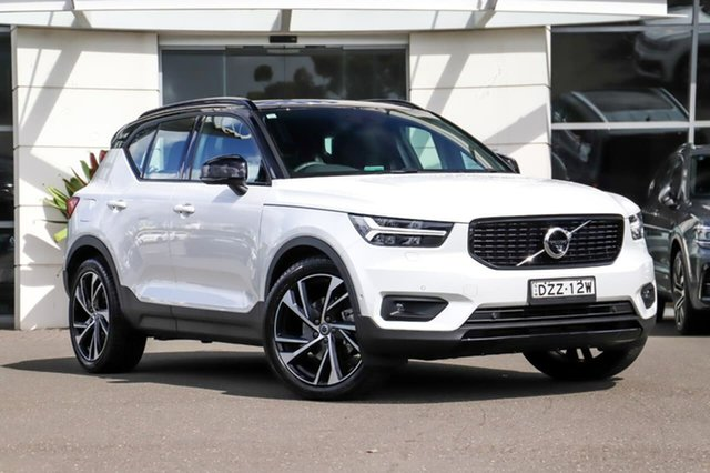 Used Volvo XC40 XZ MY20 T5 AWD R-Design Sutherland, 2020 Volvo XC40 XZ MY20 T5 AWD R-Design White 8 Speed Sports Automatic Wagon