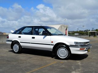 1992 Toyota Corolla AE94 CSi Seca White 4 Speed Automatic Liftback.